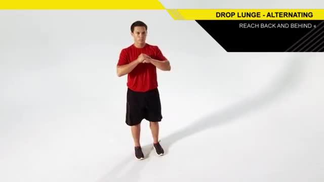 Drop Lunge demonstration