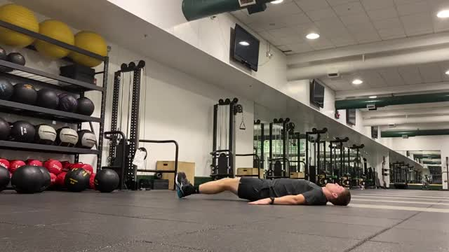 Lying Simultaneous Alternating Straight Leg Raise demonstration