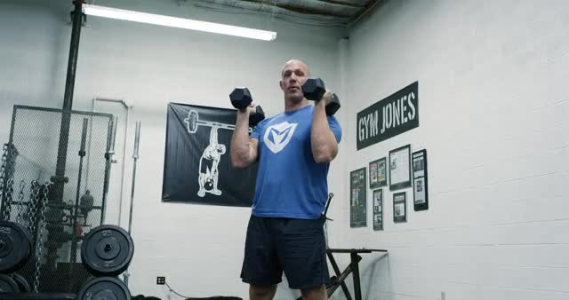 Front Squat to Overhead Press with Dumbbells demonstration