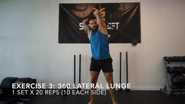 360 Steel Mace Lateral Lunge demonstration