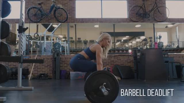 Female Barbell Deadlift demonstration