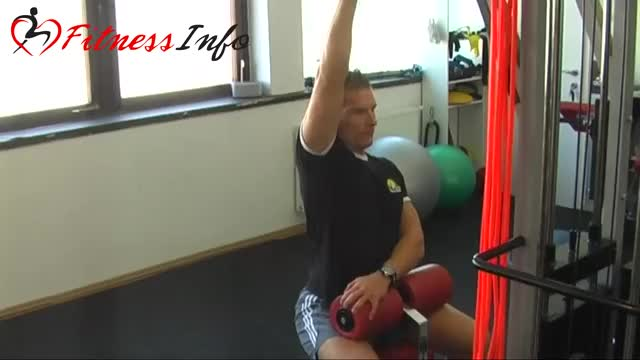 One Arm Lat Pulldown demonstration