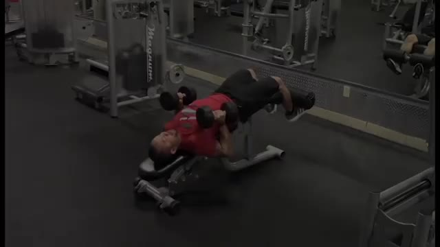 Neutral Grip Decline Dumbbell Bench Press demonstration