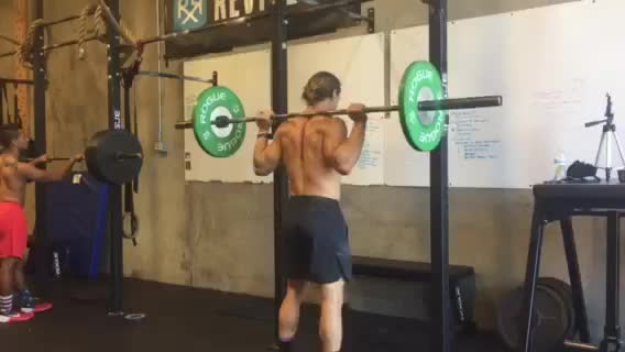 Standing Barbell Press Behind Neck demonstration