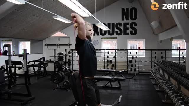 Speed Band Overhead Triceps demonstration