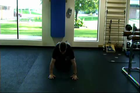Male Prone Hip Twist demonstration