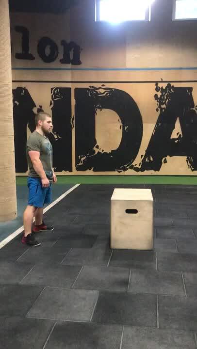Burpee Box Jump demonstration