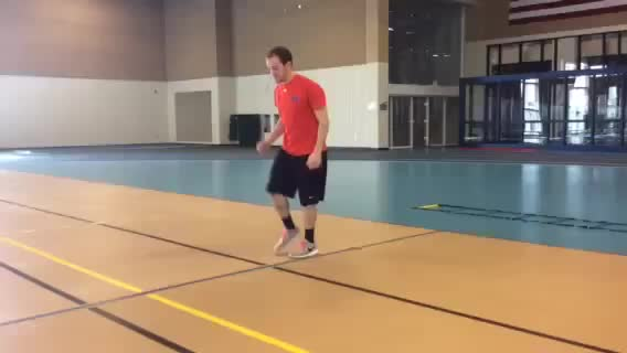 Single Leg Lateral Hop (over line) demonstration