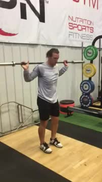 Male Barbell Split Jump demonstration