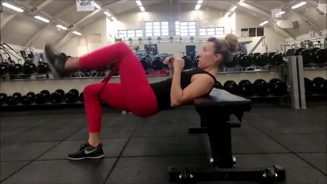 Female Single Leg Banded Hip Thrust demonstration