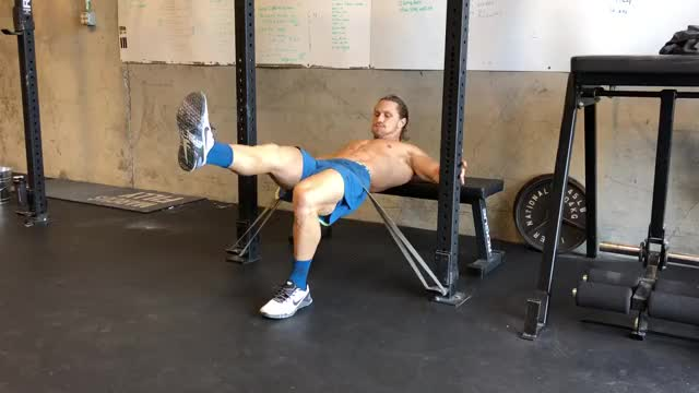 Single Leg Banded Hip Thrust demonstration