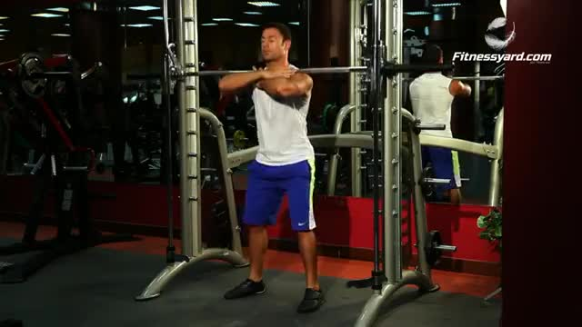 Male Smith Front Squat demonstration
