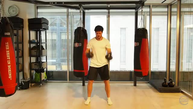 Two-Arm Kettlebell Clean demonstration