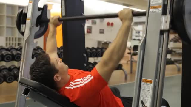 Smith Machine Incline Bench Press demonstration