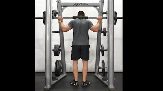 Male Toes Out Smith Machine Calf Raise demonstration