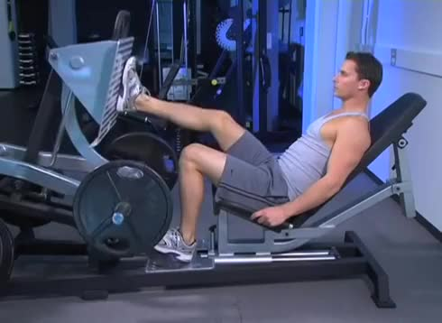 Lever Single Leg Seated Leg Press (plate loaded) demonstration