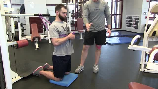 Band Assisted Nordic Hamstring Curl demonstration