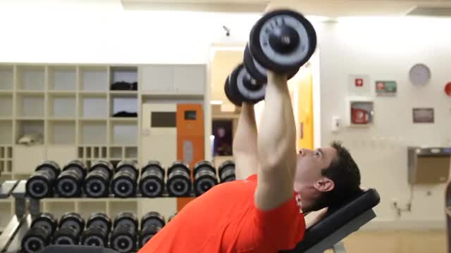 Warrior Fit Incline Dumbbell Bench Press demonstration