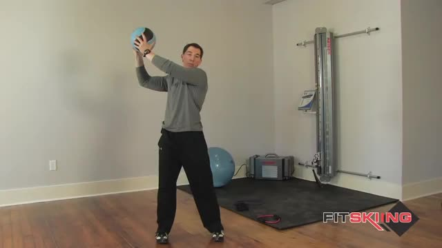 Medicine Ball Wood Chops demonstration