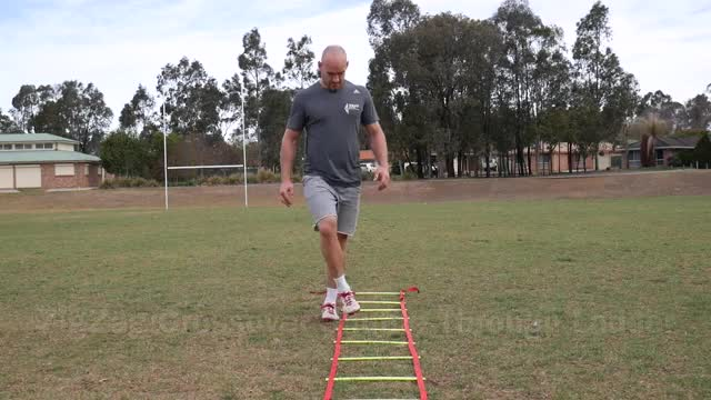 Male Slalom Jump (with agility ladder) demonstration