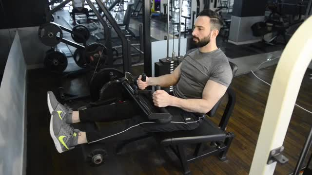 Seated Leg Curl demonstration