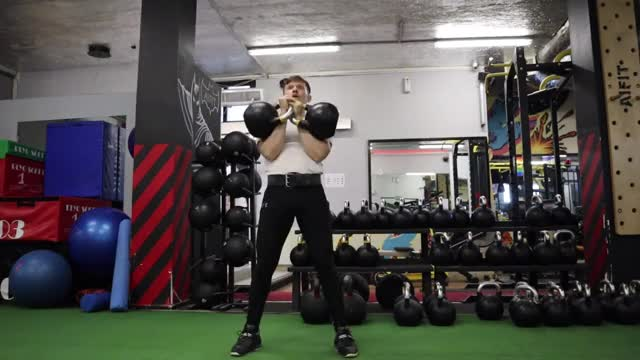 Two-Arm Kettlebell Jerk demonstration