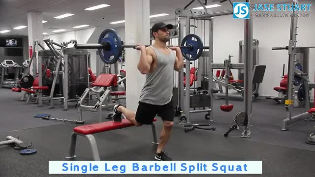 Barbell Single Leg Split Squat demonstration