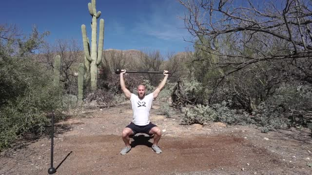Steel Mace Overhead Squats demonstration