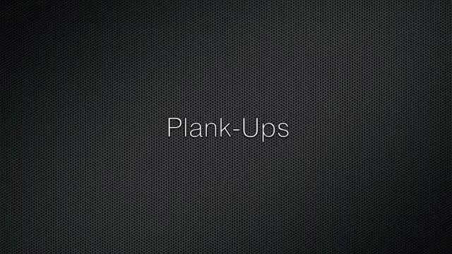 Plank Ups demonstration