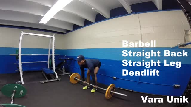 Barbell Straight-back Straight-leg Deadlift demonstration