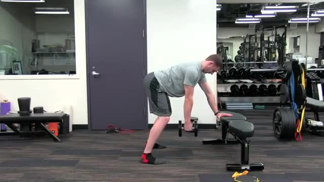 One-Arm Bent-Over Dumbbell Row demonstration
