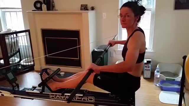 Female Kayak Machine demonstration