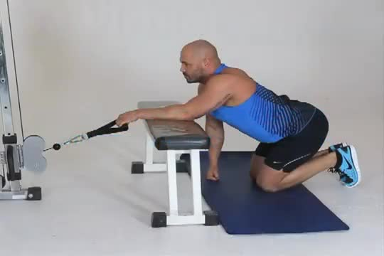 Male Cable One Arm Reverse Wrist Curl demonstration