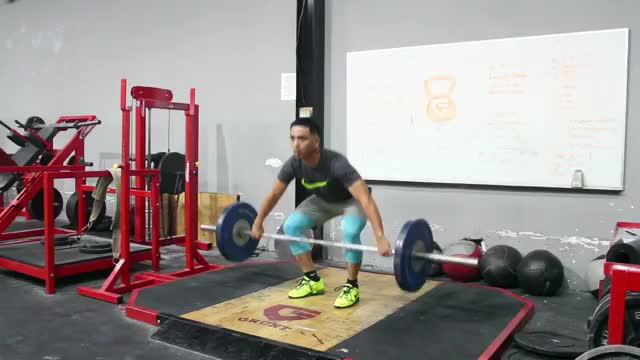 Male Power Snatch demonstration