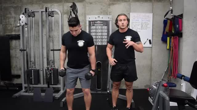 Dumbbell One Arm Lateral Raise demonstration