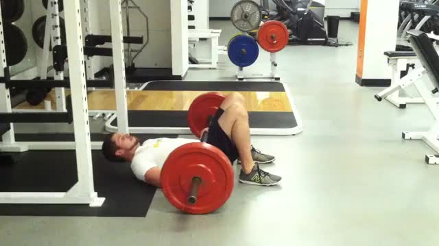 Barbell Hip Thrust on Floor demonstration