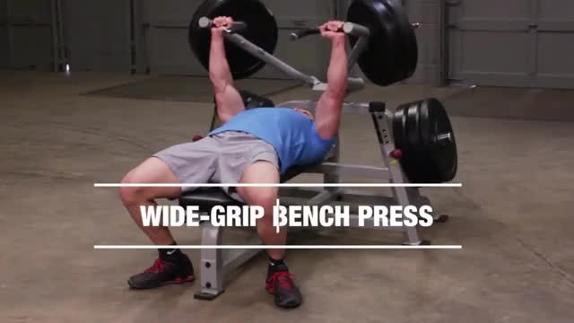 Male Lever Barbell Bench Press (plate loaded) demonstration