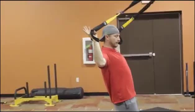 Suspension Inverted Shoulder Press demonstration