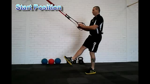 Male Self-assisted Single Leg Squat demonstration