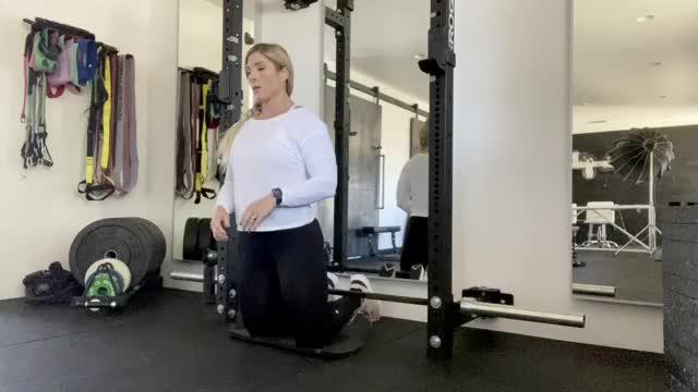 Female Nordic Hamstring Curl (Bodyweight) demonstration