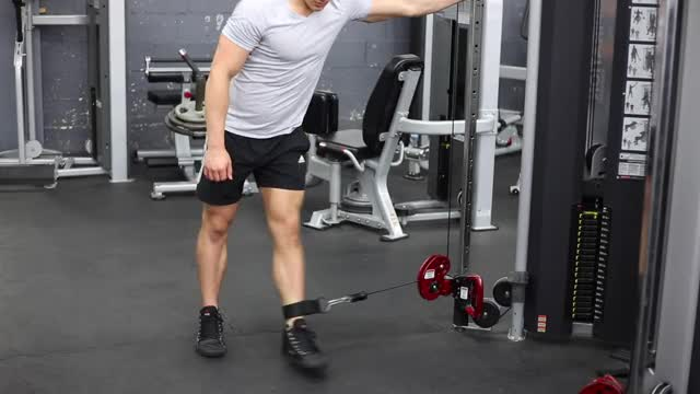 Cable Hip Adduction demonstration