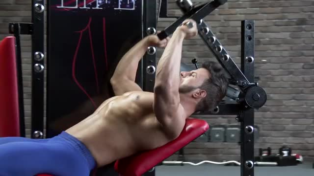 Male Lever Reclined Shoulder Press demonstration