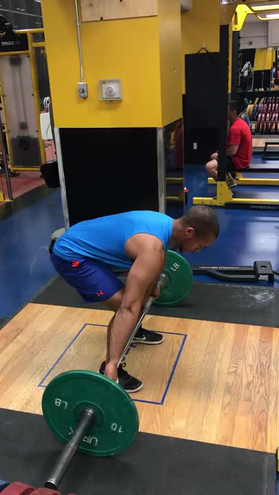 Wide-Grip Barbell Deadlift demonstration