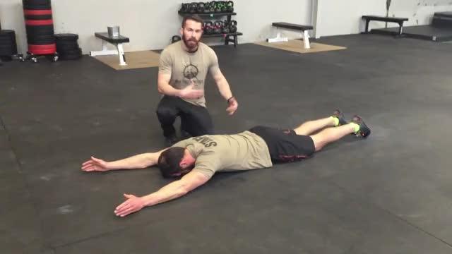 Male Superman Hold demonstration