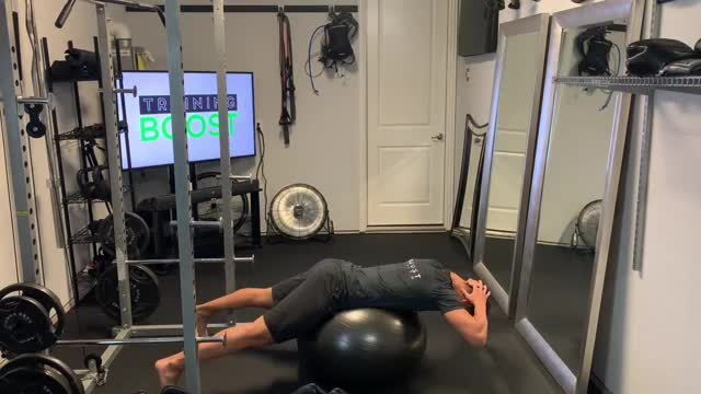 Swiss Ball Back Extension demonstration