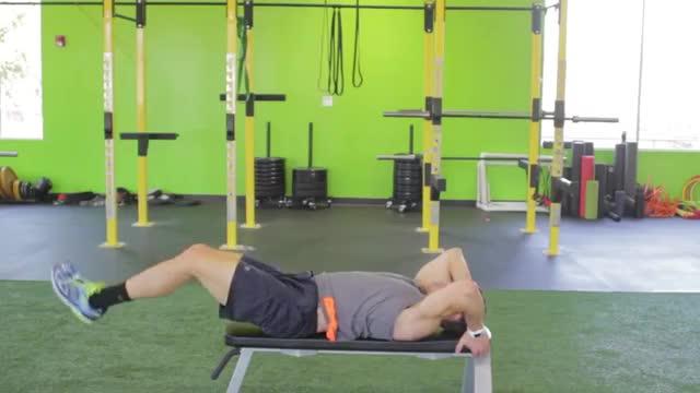 Male Lying Leg-Hip Raise demonstration