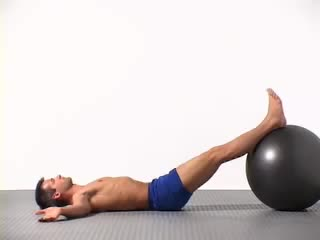 Straight Leg Bridge (on Stability Ball) demonstration