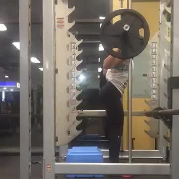 Female Smith Machine Squat To Bench demonstration