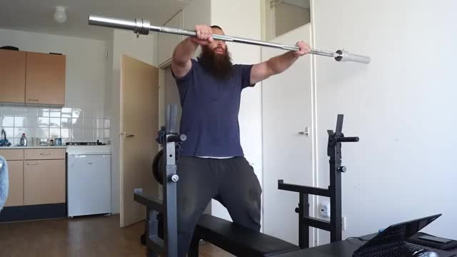 Static Barbell Hold demonstration