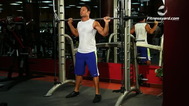 Male Smith Machine Squat demonstration